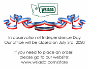 WSIADA Closed July 3rd